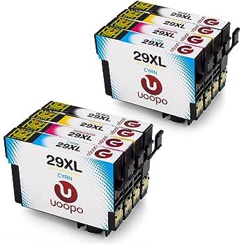 uoopo 29 29xl compatible epson 29xl cartouches d 39 encre 2 noir cyan magenta jaune pour. Black Bedroom Furniture Sets. Home Design Ideas