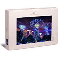 """Ulmer Puzzleschmiede - Ambient Puzzle """"Magical Singapore"""" - Modern 1000 Piece City Puzzle - The Special Night Lights of…"""