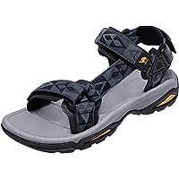 CAMEL CROWN Men's Adjustable Sandals Non-Slip Comfortable Soft Rubber Sandals for Men Athletic Fisherman Hiking Beach…