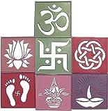 Ascension ® 12 Different Design Draw Rangoli Making Kit Rangoli Stamp Om Swastik Flower Design Colourful Rangoli Making…