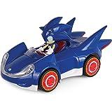 NKOK - Coche de juguete que se arrastra hacia atrás de Sonic The Hedgehog. Tamaño pequeño