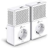 TP-Link TL-PA7010P-KIT Powerline Netzwerkadapter Set (1000 Mbit/s über Powerline, Steckdose, 2 Gigabit-Port, energiesparend, kompatibel zu allen gängigen Powerline Adaptern, ideal für IPTV) weiß