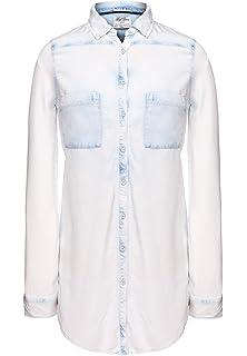 60/% khujo Damen Shirt CHARLIZE karierte Hemdbluse Karobluse aus Baumwolle SALE