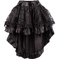 r-dessous Damen Rock schwarz Burleske Victorian Gothic Steampunk Skirt Corsage Chiffon Ãœbergrößen Vintage