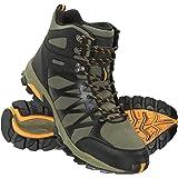 Mountain Warehouse Trekker II Mens Waterproof Softshell Boots - Phylon Midsole Shoes, Mesh Lined, Rubber Outsole Footwear, Pa