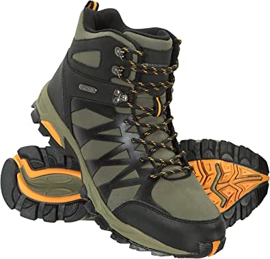 Mountain Warehouse Trekker II Mens Waterproof Softshell Boots - Phylon Midsole Shoes, Mesh Lined, Rubber Outsole Footwear, Padded Tongue - Best for Travelling, Hiking
