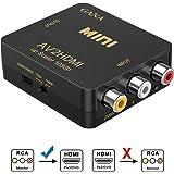 RCA vers HDMI, GANA AV vers HDMI Convertisseur de Video Support 1080P avec Câble d'alimentation USB pour PC/Laptop/Xbox/PS4/P