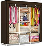 shopper 52.com Fancy and Portable Fabric Collapsible Foldable Clothes Closet Wardrobe Storage Rack Organizer Cabinet…