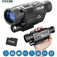ESSLNB Nachtsichtgerät Jagd Militär Infrarot 8X Vergrößerung mit 16GB TF Karte und Stativanschlussgewinde Wiedergabe Foto und Videoaufnahmefunktion bei Tag und Nacht