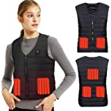 Lyeiaa Heated Vest for Men Ladies, Electric Heated Jacket with USB Charging Heated Vest, Washable Warm Heat Jacket with 3 Opt