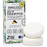 Champú Sólido, 2 Pack 60g - Reparación y Volumen - Todo tipo de cabello - 100% Vegano y biodegradable. Libre de sulfatos y pa