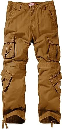Matchstick Uomo Pantaloni Cargo #3357(3358 Fango(Mud),29W x 31L)