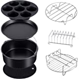 Pressure Cooker, Steamer & Air Fryer Accesories Compatible with Ninja Foodi 6.5&8qt(OP301,OP302,OP401,FD401)7SET