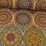Stoffe Werning Beschichteter Baumwollstoff Mandalas bunt