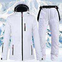 Niubibu Sports De Snowboard Et De Ski Costumes Couple Costumes Pantalons De Ski Costumes De Ski Hommes Et Femmes Costumes Blancs Ski dhiver en Plein Air