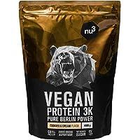 nu3 Vegan Protein 3K Shake - 1 Kg Cookies & Cream Blend - veganes Eiweisspulver aus 3-Komponenten-Protein mit 69…