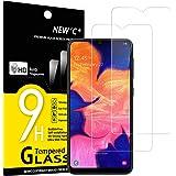 NEW'C 2 Unidades, Protector de Pantalla para Samsung Galaxy A10 (SM-A105F), M10, Antiarañazos, Antihuellas, Sin Burbujas, Dur