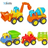 JVM Friction Powered Automobile Cars Push and Go Car Construction Vehicles Toys, Tractor / Bulldozer / Dumper / Cement…