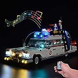 ZJLA upgrade afstandsbediening verlichting set met geluid voor Lego Ghostbusters ecto-1 10274, verlichting voor Lego 10274 ec