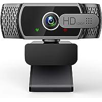 EYONMÉ Webcam mit Mikrofon,1080P Kamera mit Webcam Abdeckung,USB 2.0 Plug & Play, für Desktop und Laptop Video…