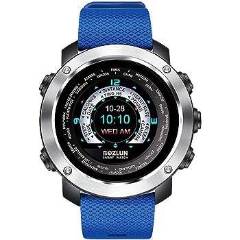 Reloj inteligente de moda para hombre para iPhone Android con monitor de ritmo cardíaco, podómetro