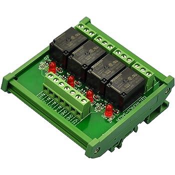 PA1 a-24 V. Electronics-Salon Slim DIN Rail Mount 24 V DC Sp/ültisch//NPN 8 spst-no 5 A Power Relay Modul