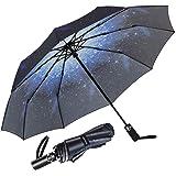 Newdora Paraguas Plegable Automático Impermeable 10 Armazones de Metal Compacto Resistencia contra Viento para Viaje para Hom