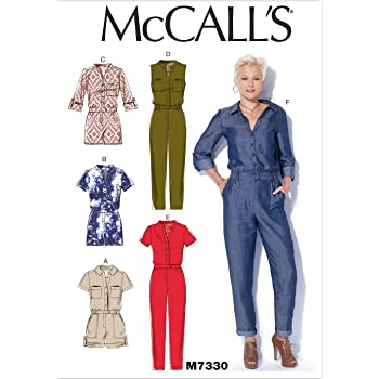 62e9c36ea95 McCall s Patterns 7330 Y Sizes X-Small - Medium Misses Rompers and Jumpsuits