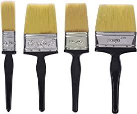 Mercury Brush Double Thickness Triple Boiled 100% Pure Nylon/Polyester Blend Round Bristles Paint Brush for All Application Type A (1+2+3+4 inch)