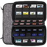 Sisma Pochette de rangement pour 40 jeux Nintendo Switch (ou cartes SD) et 32 jeux Nintendo 3DS DS, Gris/Noir