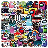 WayOuter Pegatinas Among Us 100 Uds, Calcomanías de Graffiti Impermeables de Anime para portátil, monopatín, Pegatina Imperme