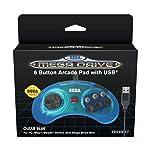 Retro-Bit Official SEGA Mega Drive USB 6-Button Controller for MEGA DRIVE MINI CONSOLE, PC, Switch, Mac, Steam, RetroPie...