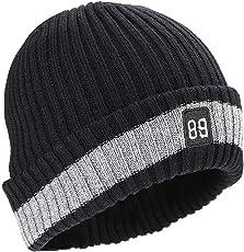 Kungber Wintermütze, Warmer weicher Beanie Mütze Strickmütze Acrylic Watch Hat Mütze für Damen Herren