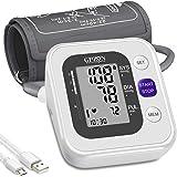 Tensiomètre Bras Électronique Professional,Tensiomètre Brassard Intelligent & Précise, Détection Automatique d'Hypertension,A