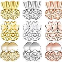Schienali con orecchino magico, 9 paia di orecchini con retro orecchino ipoallergenico regolabili, orecchini posteriori…