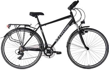 "KS Cycling Herren Trekkingrad Alu-Rahmen 28"" Metropolis RH 56 cm Multipositionslenke Fahrrad, schwarz"