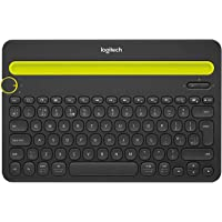 Logitech K480 Wireless Multi-Device Keyboard for Windows, Apple iOS android or Chrome, Wireless Bluetooth, Compact Space…