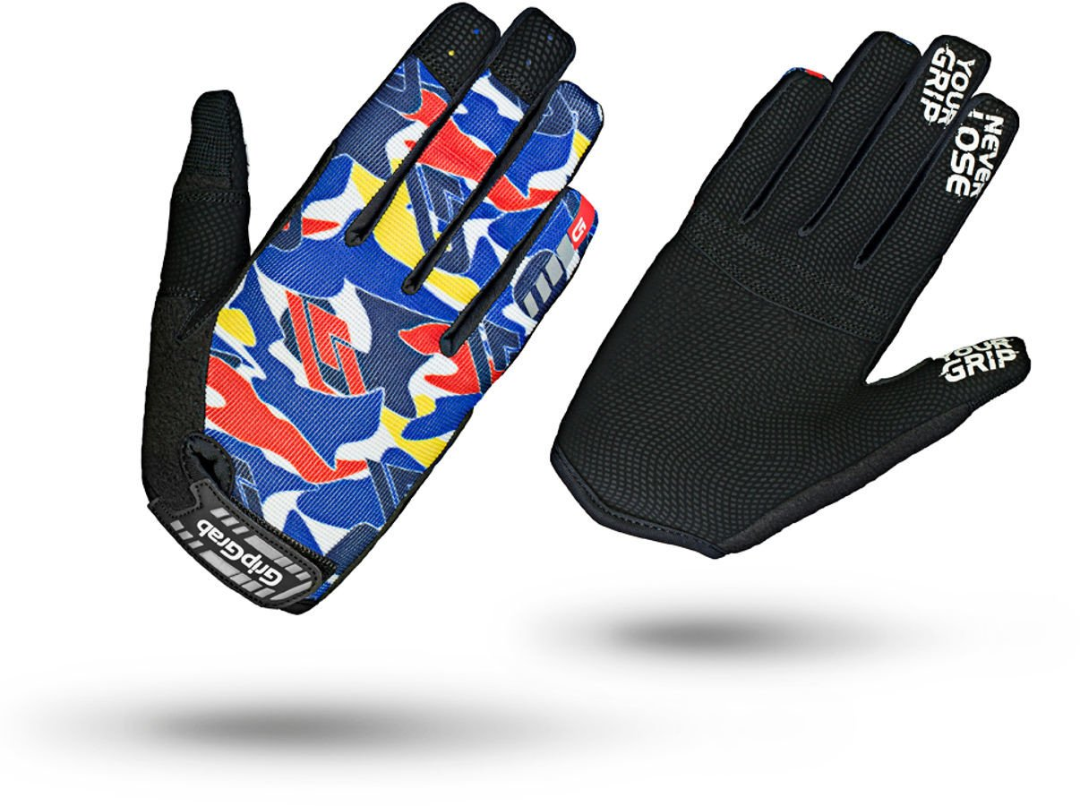 GripGrab Rebel Youngster Rugged Full Finger Glove Fahrrad Handschuhe Sommer, Blu