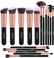 Pennelli Make Up BESTOPE Pennelli per il Trucco Set di 16 Pennelli per il Make-up Professionali, Eyeliner, Ombretto,...