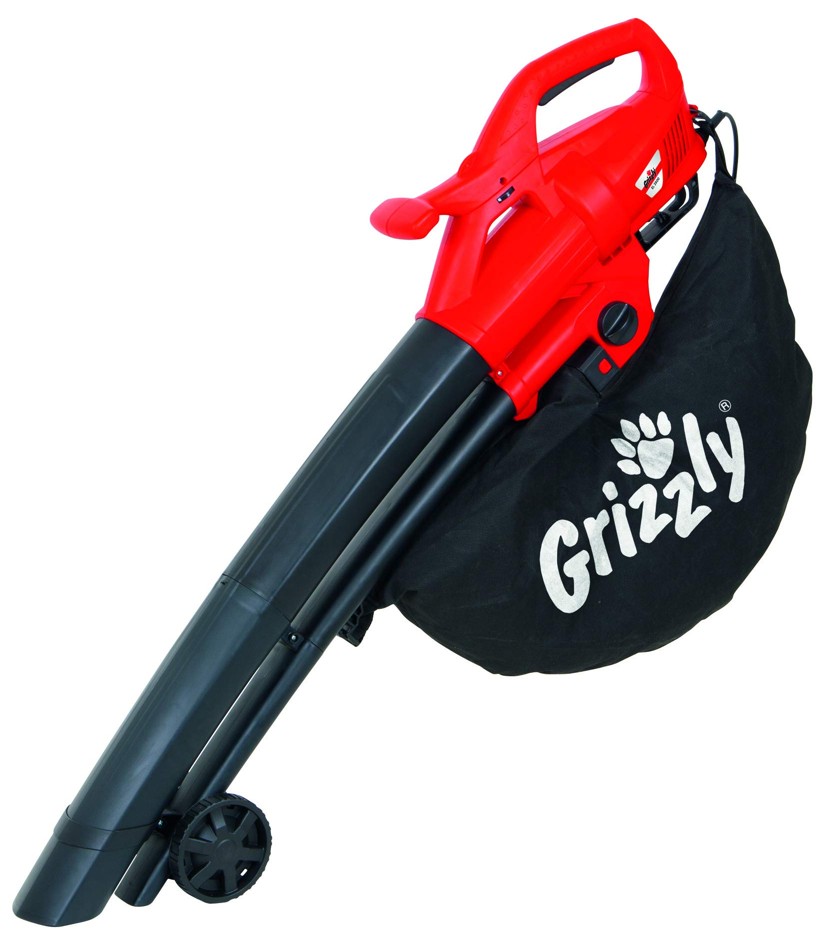 Grizzly Elektro-Laubsauger/Bläser/Häcksler EL 2800, 270 km/h, inkl. Fangsack/Tragegurt