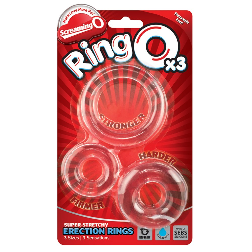 Screaming O Ringo Clear Erection Rings