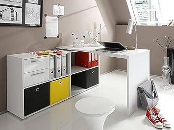 Eckschreibtisch schwarz weiß  Eckschreibtisch Winkelkombination Schreibtisch Arbeitstisch ...