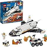 LEGO CitySpacePort ShuttlediRicercasuMarte, Giocattoli da Costruzione per Bambini Ispirati dalla NASA, con Rover e Dron