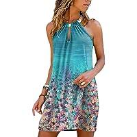 Lulupi Abito da Donna Eleganti Abiti Lungo con Senza Maniche Spalle Scoperte Moda Plaid Stampa Blocchi di Colore Vestito…