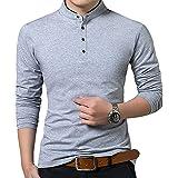 Lyon Becker Men's Grandad Collar Shirt in Pique Slim Fit Short Sleeve Polo Top