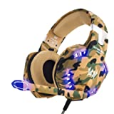 EasySMX Gaming Headset, COOL 2000 Comfortable LED Over Ear Stereo Gaming Headphone with Mic and Volume Control, for PC…