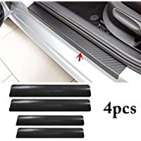 CVANU 4PCS Car Sticker Universal Anti-Scratch Door Sill Car Decal Car Sticker Decal (Black)