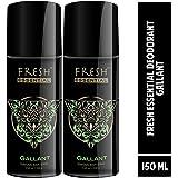 Fresh Essential Deodorant - Gallant, 150 ml (Pack of 2)