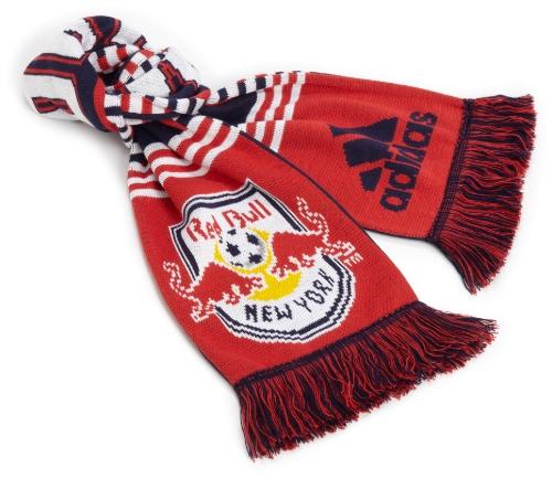 adidas MLS New York Red Bulls Coach's Schal, Einheitsgröße, Rot - Bulls Schal