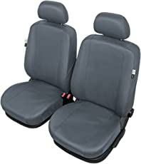 ZentimeX Z738362 Sitzbezüge Vordersitze Kunstleder grau Airbag-Kompatibel